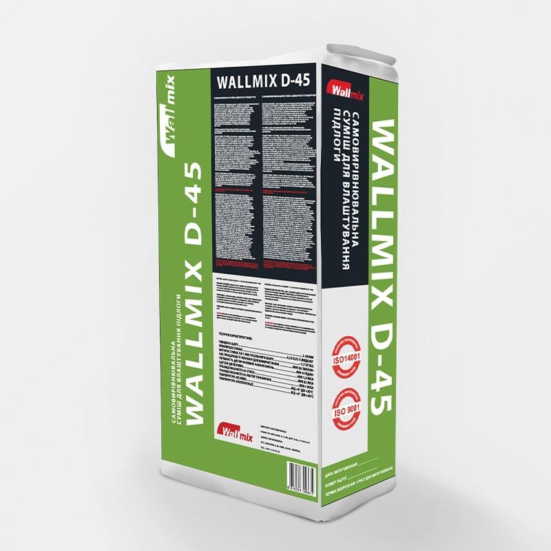 Самовирівнювальна суміш для влаштування підлоги WALLMIX D-45