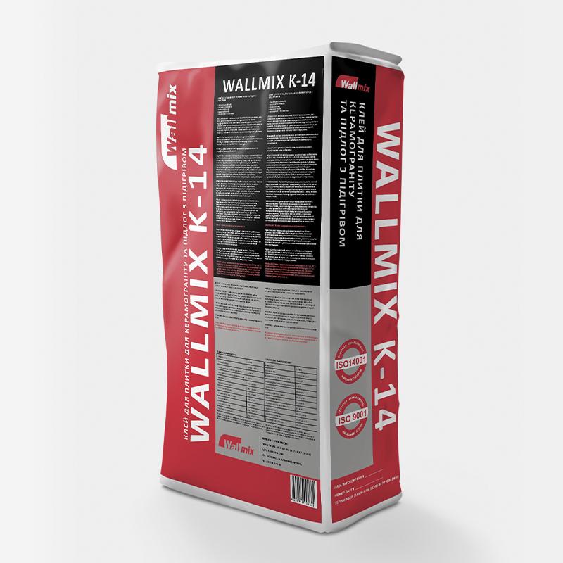 Клей для плитки для керамограніта та підлог з підігрівом WALLMIX K-14